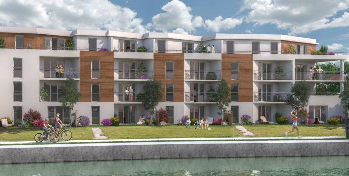 Vue sur le port - Immobilier Neuf à Reims à prix Promoteur
